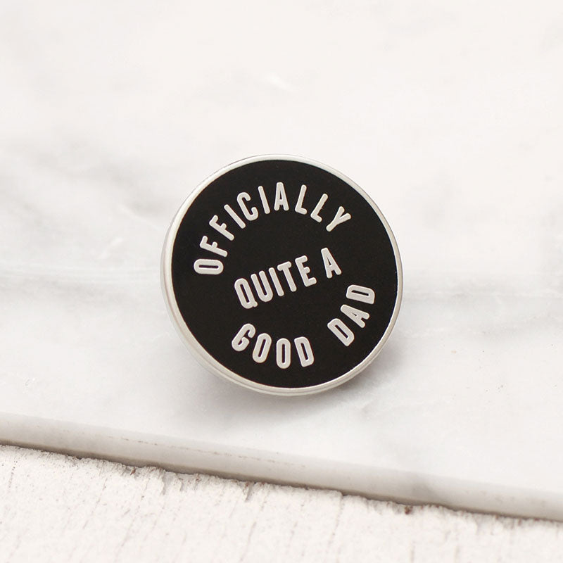 Alphabet Bags Officially Quite a Good Dad Enamel Pin