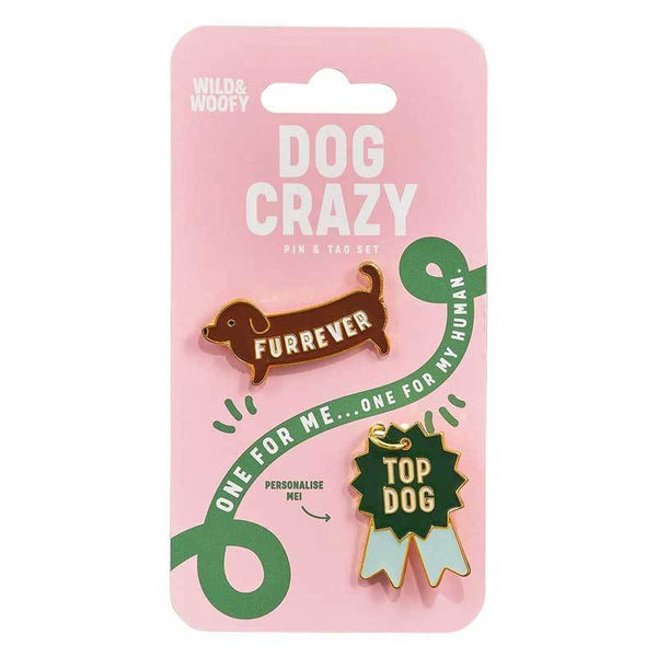 Wild and Woofy Dog Pin and Tag Set