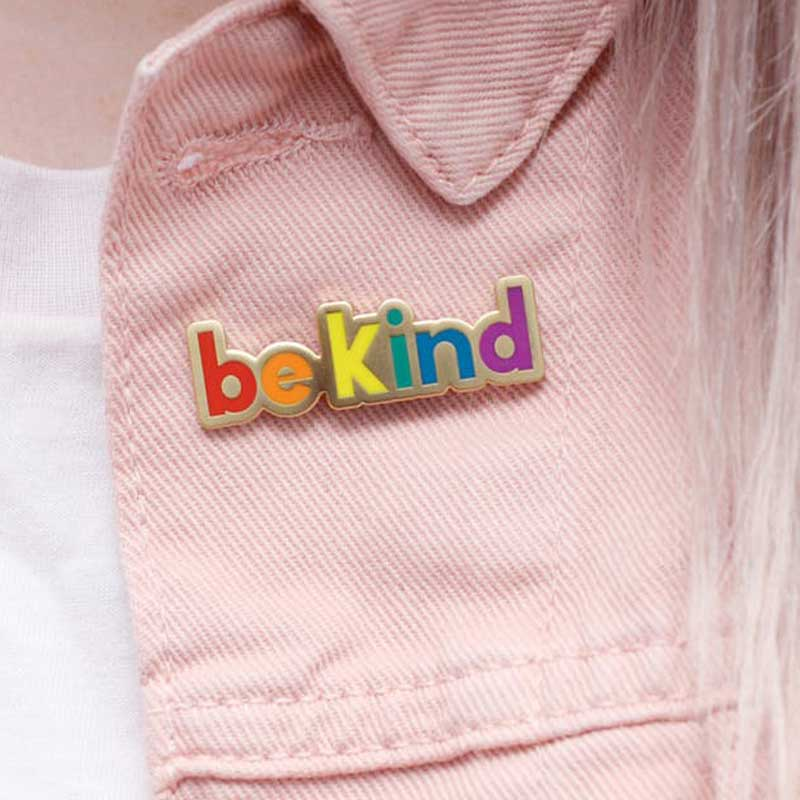 Alphabet Bags Be Kind Enamel Pin