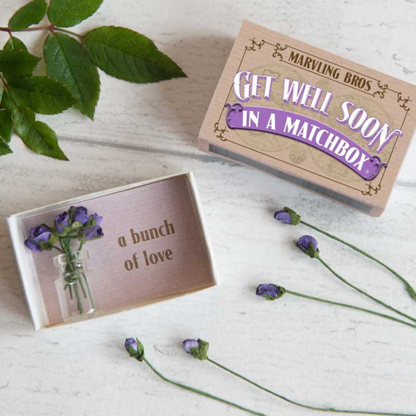 Marvling Bros Get Well Soon Bouquet in a Matchbox