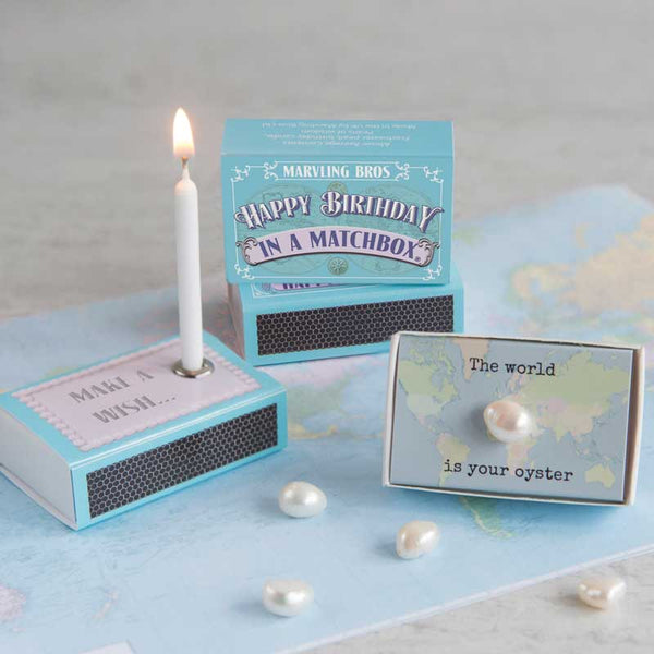 Marvling Bros Happy Birthday in a  Matchbox