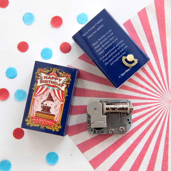Marvling Bros Happy Birthday Music Box in a  Matchbox