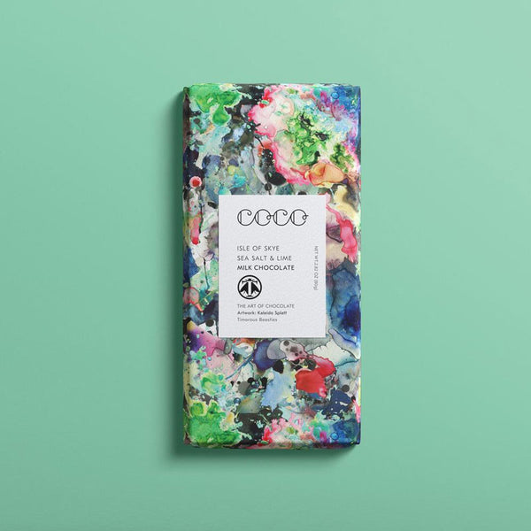 Coco Chocolatier Isle of Skye Sea Salt & Lime Chocolate