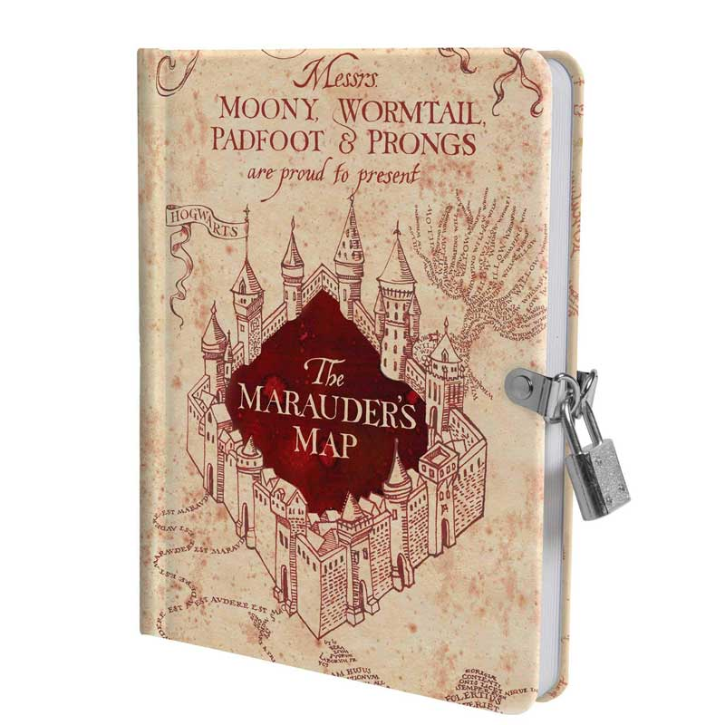Harry Potter Marauders Map Lockable Diary