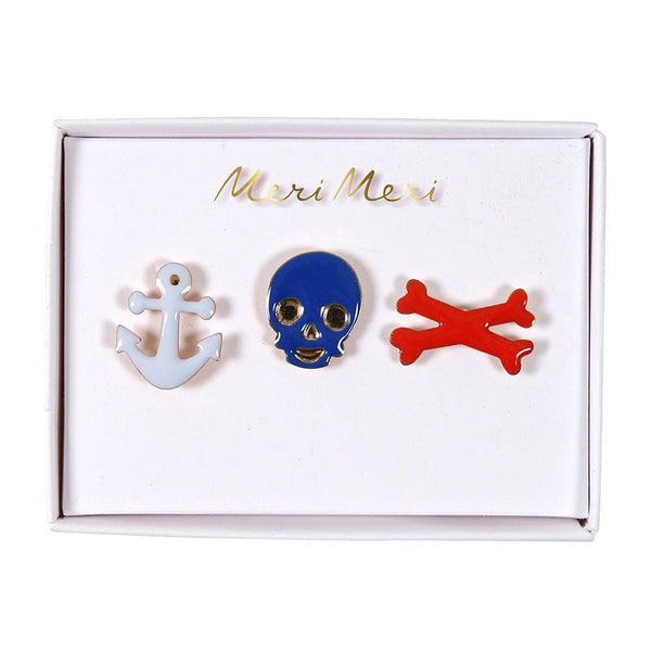 Meri Meri Pirate Enamel Pins