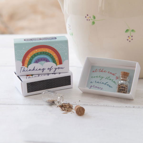 Marvling Bros Thinking Of You Rainbow Seeds in a Matchbox