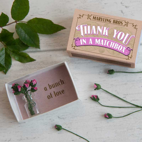 Marvling Bros Thank You Bouquet in a Matchbox