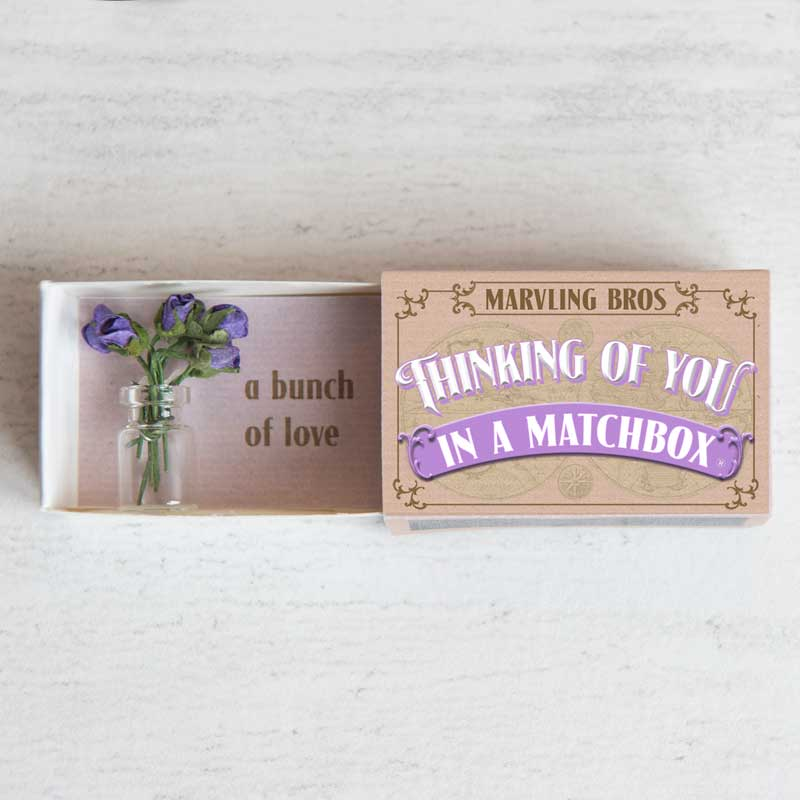 Marvling Bros Thinking Of You Bouquet in a Matchbox