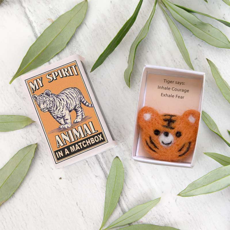 Marvling Bros Tiger Spirit Animals In A Matchbox