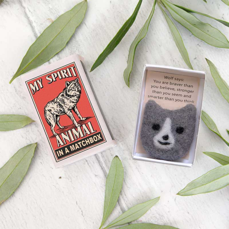 Marvling Bros Wolf Spirit Animal In A Matchbox