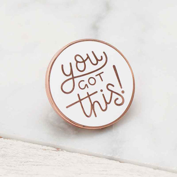 Alphabet Bags You Got This Enamel Pin