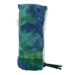 "11"" Padded Fleece Pipe Pouch - Large, Blue-Green TieDye - Green Goddess Supply"