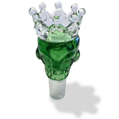 19mm Male Green Skull Crown Herb Holder - Green Goddess Supply