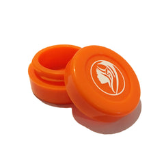 Non-Stick Silicone Wax Jar - Orange - Green Goddess Supply