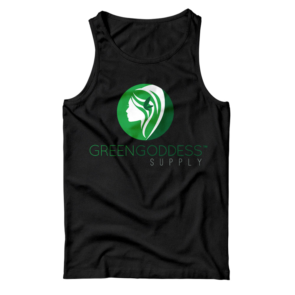 Women's Logo Tank Top Shirt - Black - Green Goddess Supply