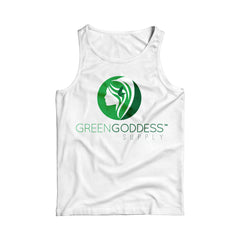 Women's Logo Tank Top Shirt - White - Green Goddess Supply
