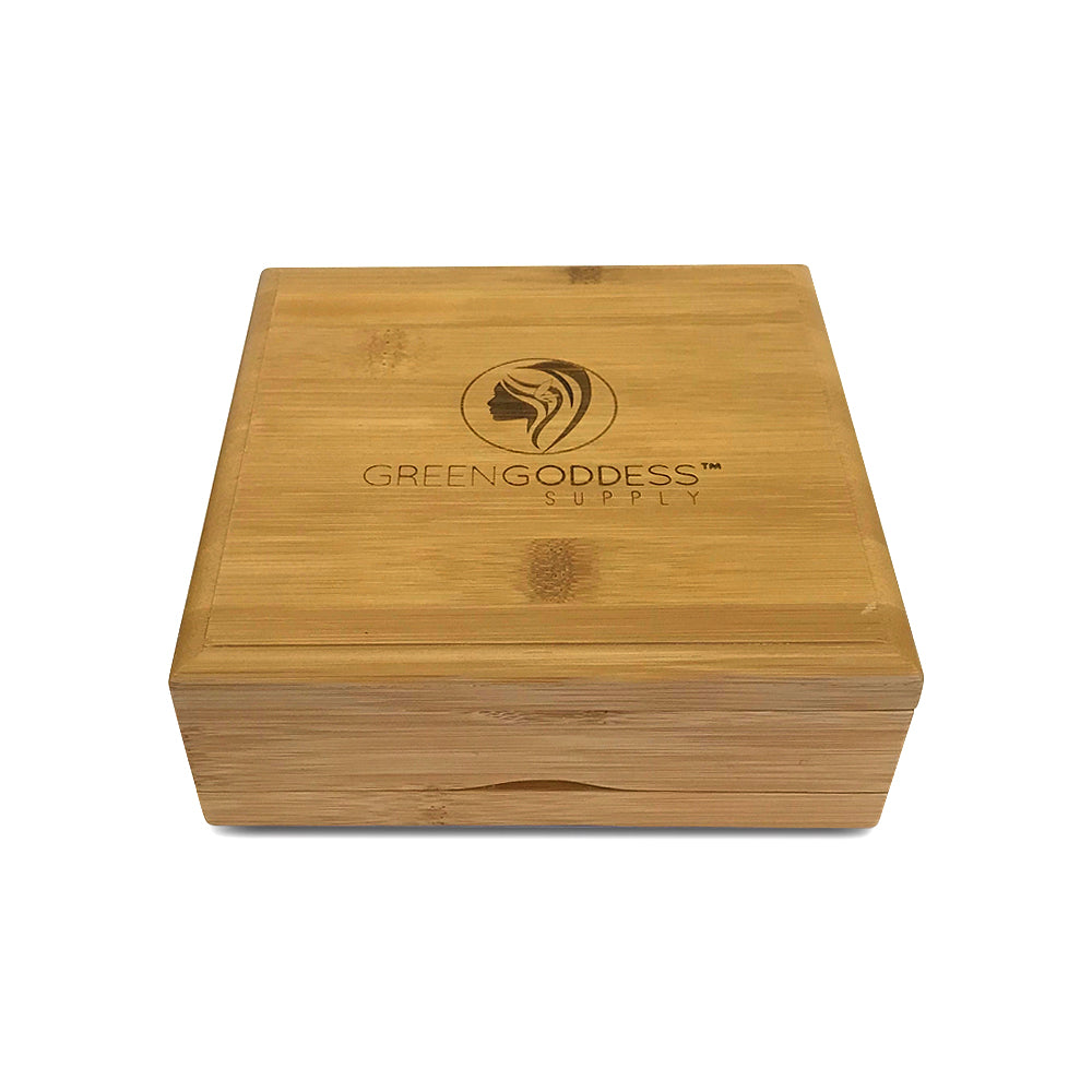 Large Bamboo Pollen Sifter Box - Green Goddess Supply