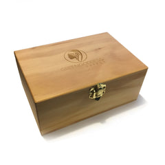 Medium Wooden Storage Box w/ Latching Lid & Rolling Jig - Green Goddess Supply
