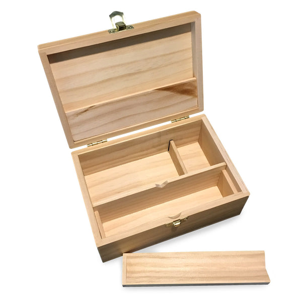 Medium Wooden Storage Box w/ Latching Lid & Rolling Jig