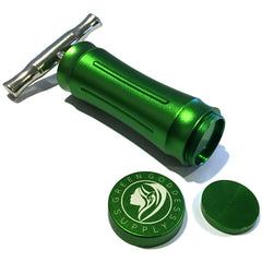 "Premium Aluminum Pollen Press with ""T-Press"" Style One-Piece Handle - Green Goddess Supply"