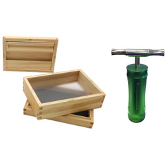 Pine Sifter Box & Pollen Press (Bundle) - Green Goddess Supply