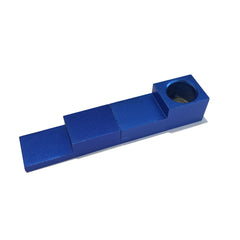 Magnetic 2-Piece Folding Pipe - Blue - Green Goddess Supply