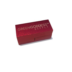 Magnetic 2-Piece Folding Pipe - Red - Green Goddess Supply
