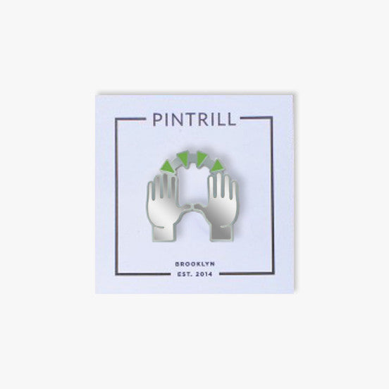 Shopify x Pintrill Raised Hands Emoji Pin