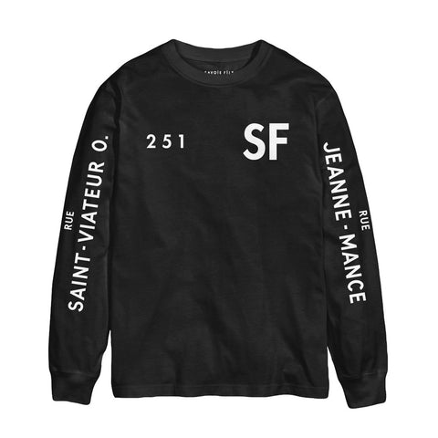 Black SF L/S On the Corner Shop Tee