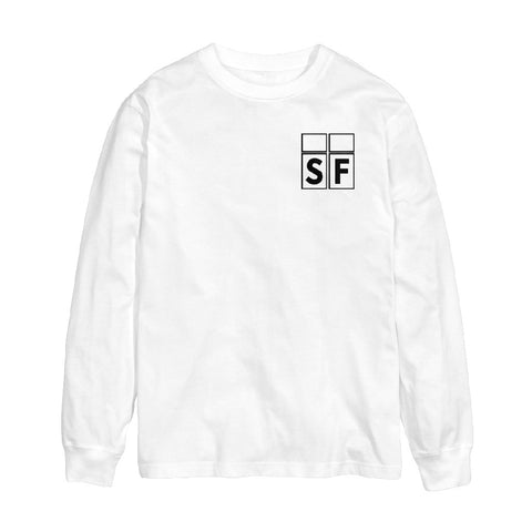White SF L/S Window Shop Tee