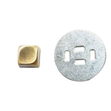 "1/4"" Flat Elevated Square Prong Rivet / Stud (PE024)"