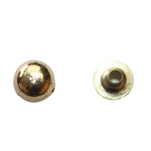 "1/4"" Circular Rounded Elevated Double Cap Rivet / Stud (PE028)"