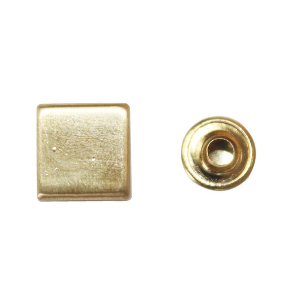 "1/2"" Flat Square Double Cap Rivet / Stud (PE129)"