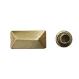 "5/8"" x 1/4"" Lifted Rectangular Pointed Double Cap Rivet / Stud (PE211)"