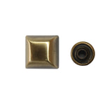 "1/2"" Lifted Square Double Cap Rivet / Stud (PE256)"