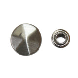 "3/8"" Flat Pointed Circular Double Cap Rivet / Stud (PE329)"