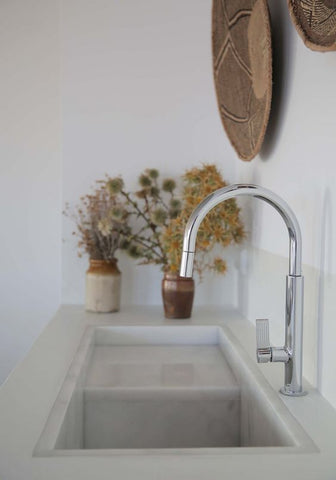 Batonga basket over kitchen sink