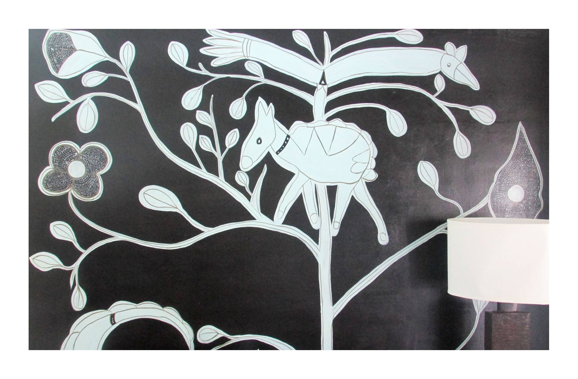 Black + white wall painting