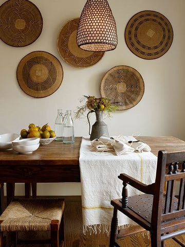 Batonga baskets in dining room