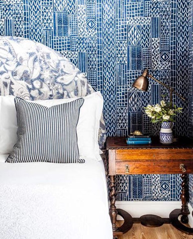 Halcyon House Blue & White Bedroom