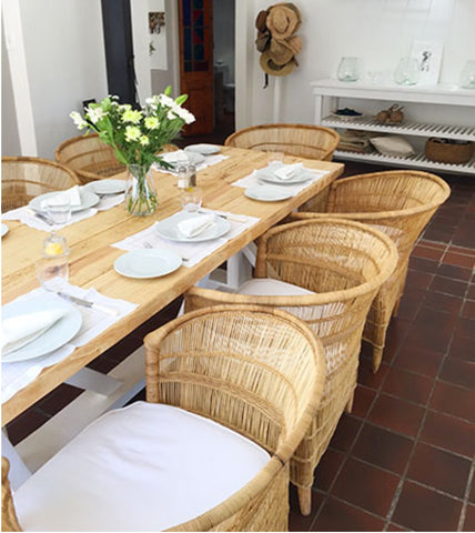 Malawi chairs as dining table chairs