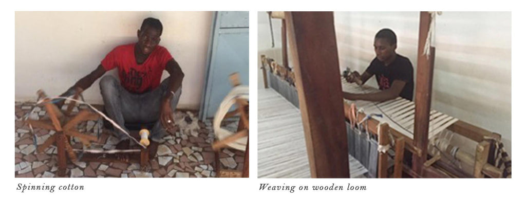 Tensira artisans spinning & weaving cotton