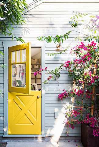Bright yellow Dutch door