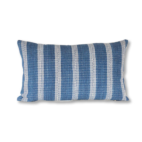 Striped indigo pillow from West Africa