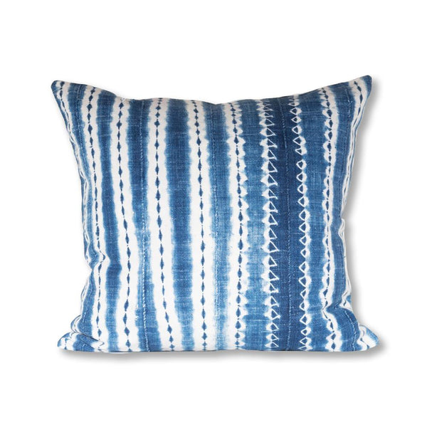 African Indigo Pillow from Burkina Faso 20x20