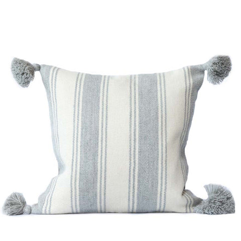 Alpaca Pillow I - Gray Stripe