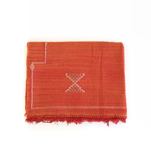 Cactus Silk Rug III in red