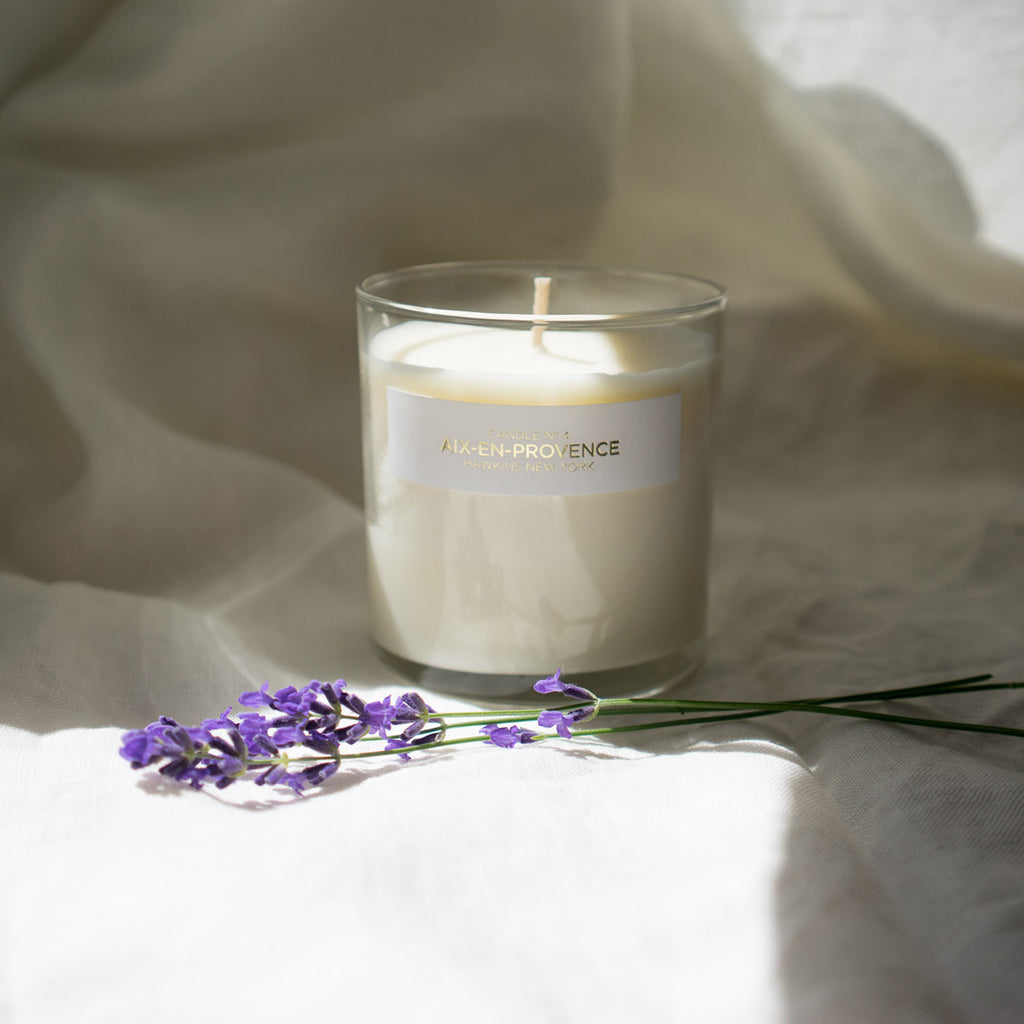 Soy candle in lavender & wild herb