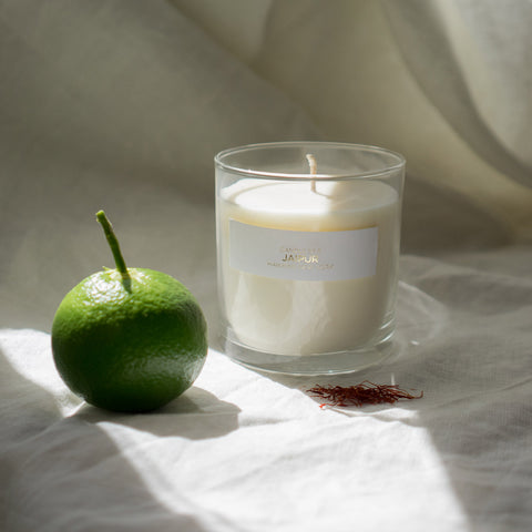Soy candle in bergamot & saffron scent