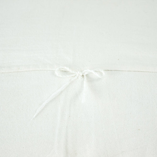 White cotton back of Chiapas Embroidered Pillow II